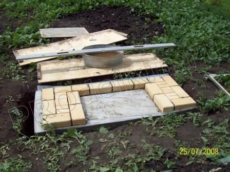 Печи для мангала и казана из кирпича