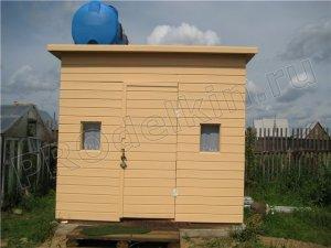 Строим на даче душ, совмещённый с туалетом