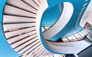Винтовая лестница – великолепный элемент декора помещения