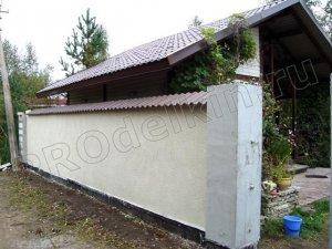Мощный бетонный забор