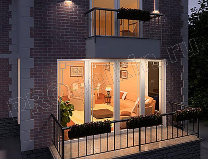 Балкон в частном доме фото своими руками