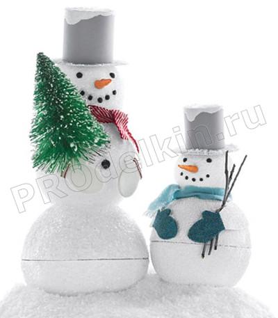 Сделать шапку снеговика своими руками