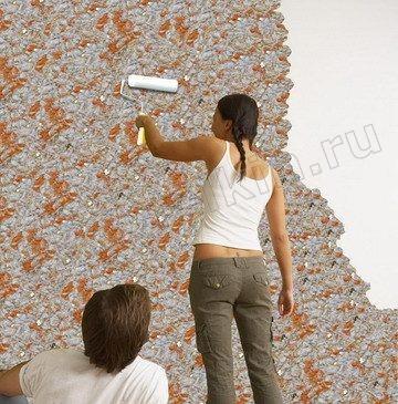 Как наносить жидкие обои на стену своими руками