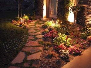 Монтаж ночного освещения сада