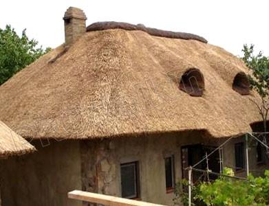 Как сделать навес с камышовой крышей