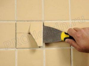 Как восстановить разбитую плитку
