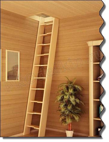 Лестницы на чердак своими руками : фото чертежей, видео