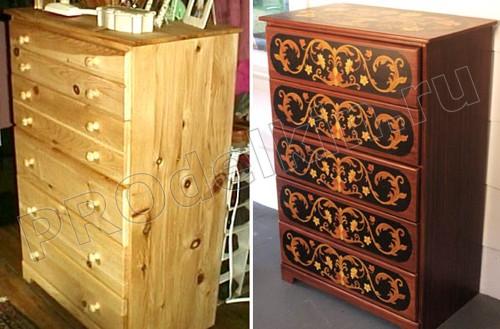 Обновление старой мебели своими руками